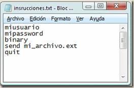 envio ftp